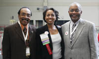Therelee Washington, Tyler ISD; Jessie Mae Smith-Wright, Gonzales ISD; and James Keeton, Liberty-Eylau ISD, at the 2008 TASB/TASA Convention