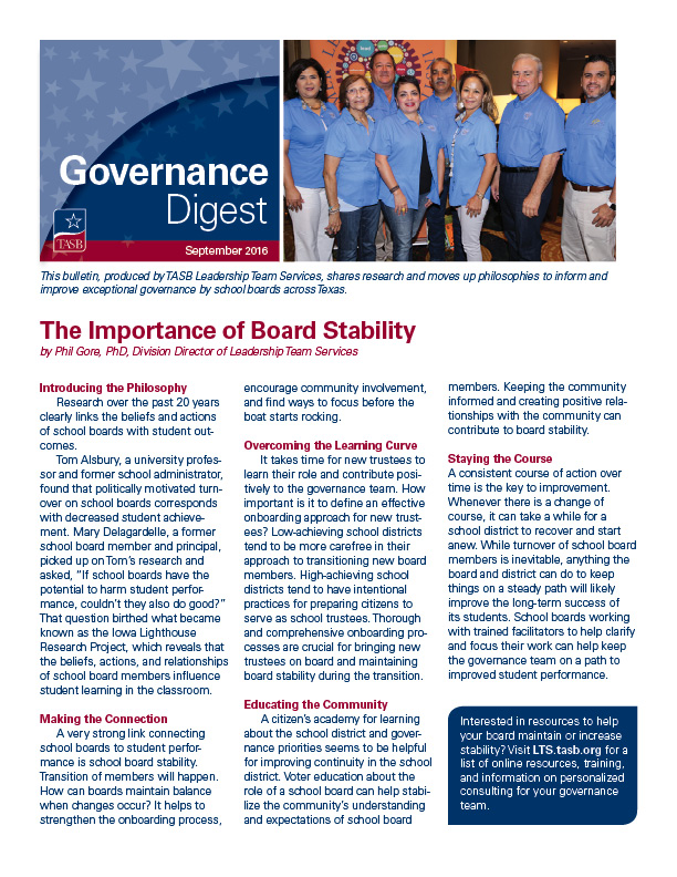 Governance Digest